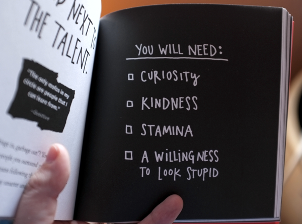 You Will Need checklist from Austin Kleon's Steal Like an Artist