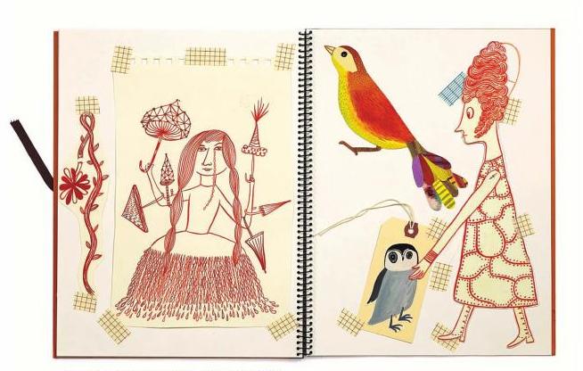 sketchbook pages from Sarajo Frieden