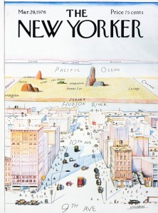 Saul Steinberg's A View of the World from 9th Avenue